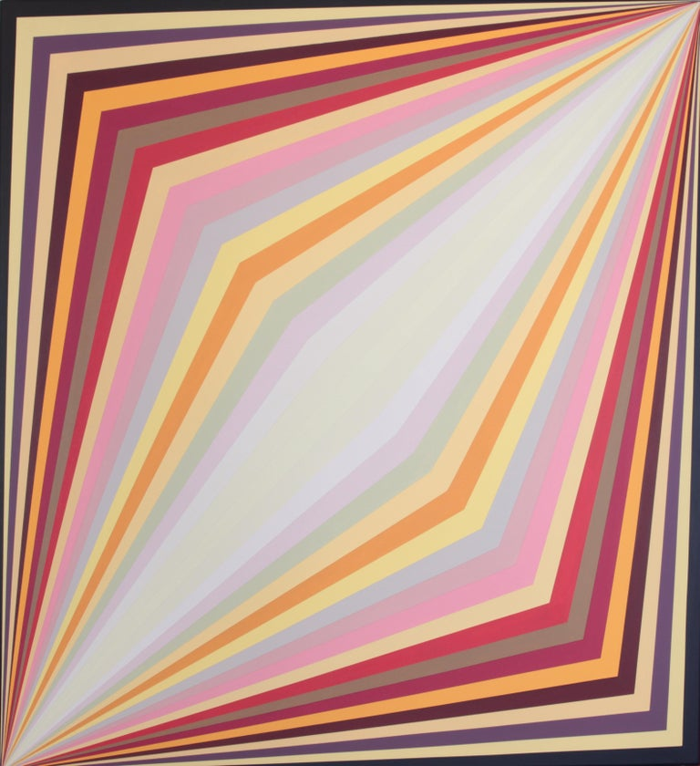 Claudia Fauth Acrylic on Canvas Geometric Composition - Painting by Claudia Fauth