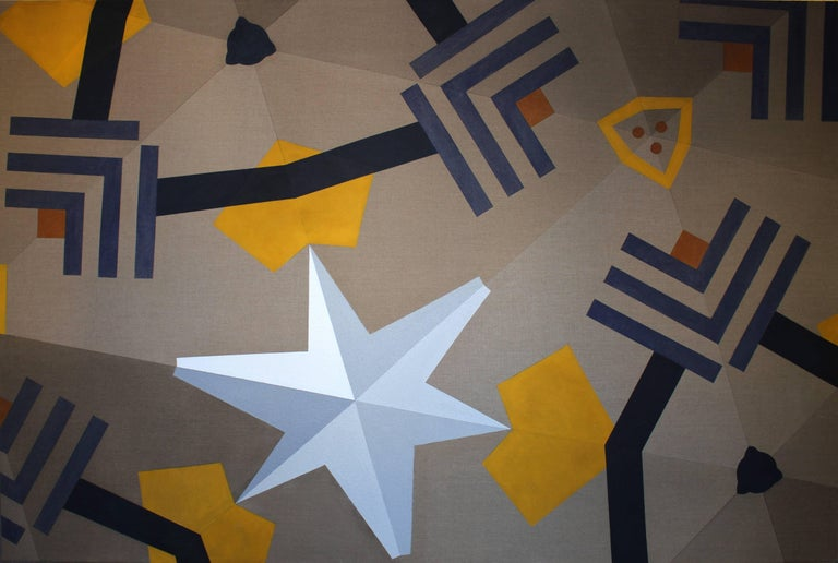 "Claudia Fauth ""Matrix in Creation No 17"" Acrylic Paint on Canvas"