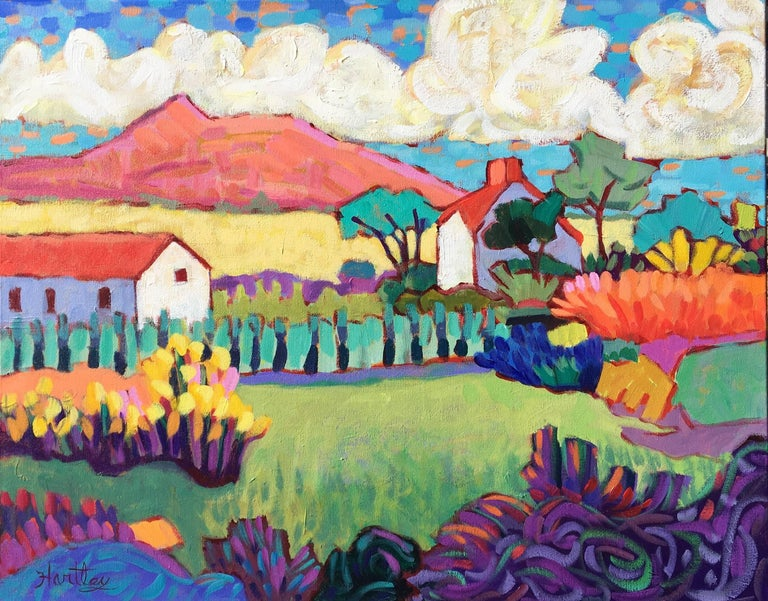 "Claudia Hartley Landscape Painting - ""French Farm"""