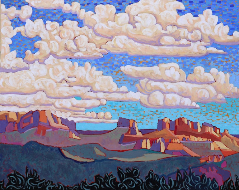 """Claudia Hartley Landscape Painting - """"The Far West"""""""