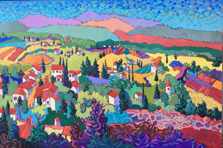 "Claudia Hartley Landscape Painting - ""View from the Wall"""