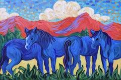 """Western Blue Horses"""