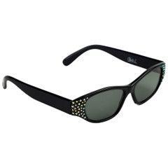 Claudia L Vintage Rhinestone Cat Eye Sunglasses