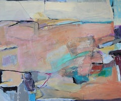 Untitled, Abstract Landscape, Acrylic Painting on Canvas, Signed