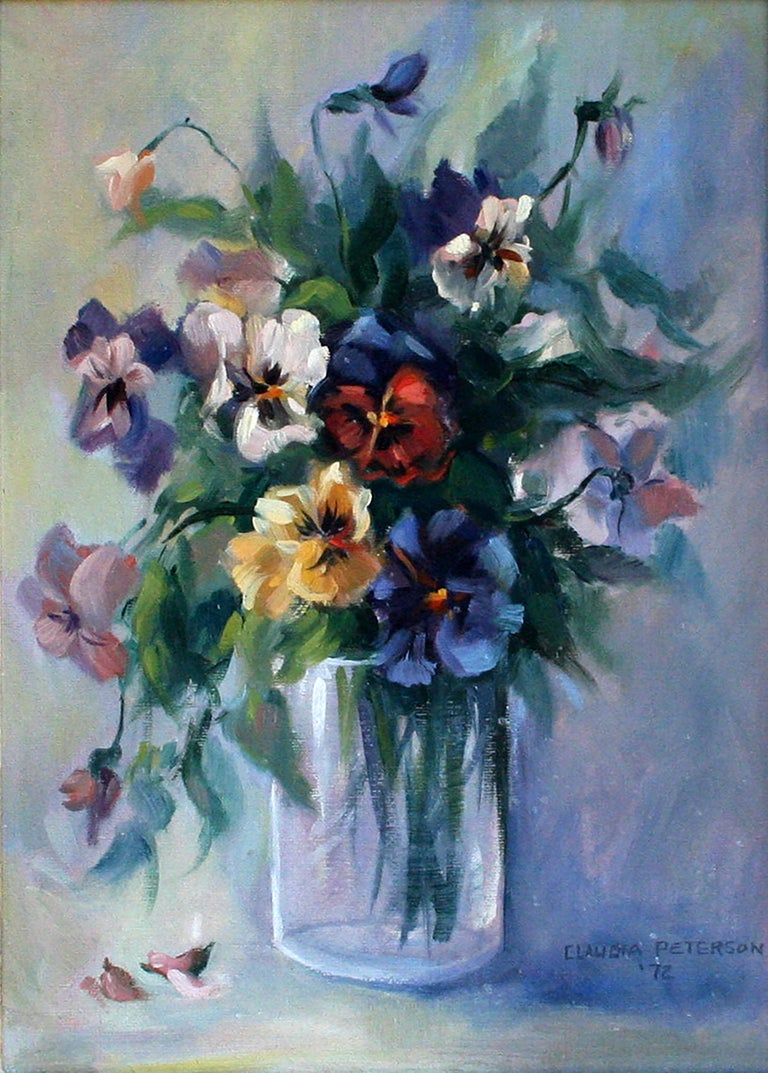 Floral Bouquet Still-Life  - Painting by Claudia Peterson