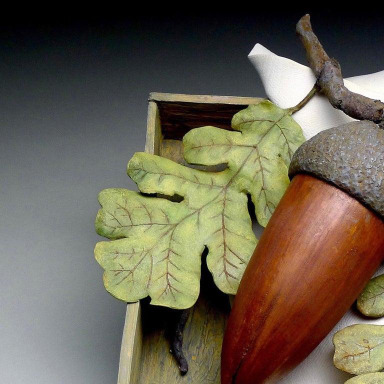 Acorn - Gray Still-Life Sculpture by Claudia Tarantino