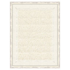 Claudine Blanc - Bright Contemporary Hand Knotted Wool Silk Rug