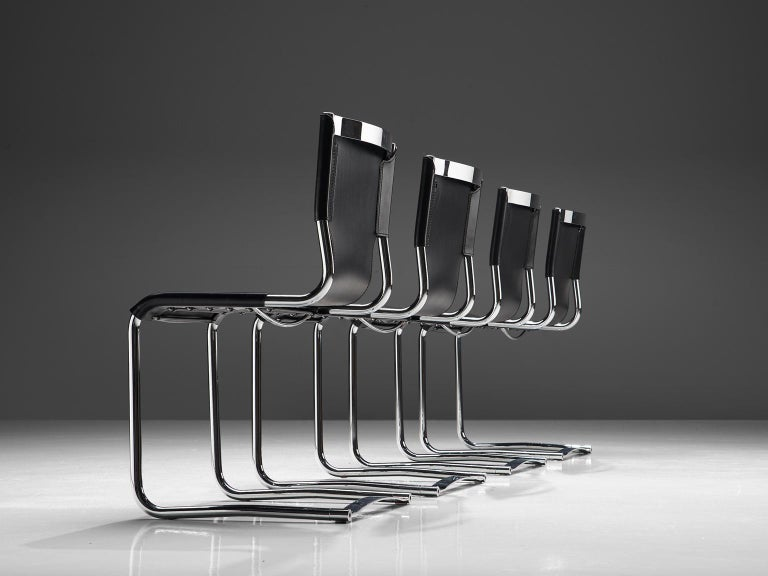 Mid-Century Modern Claudio Bartoli Set of Four Dining Chairs For Sale