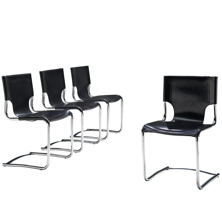 Claudio Bartoli Set of Four Dining Chairs For Sale
