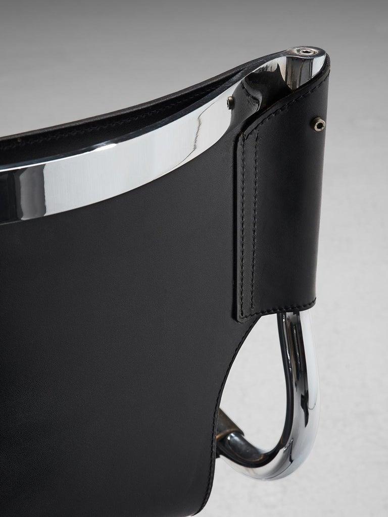 Claudio Bartoli Set of Tubular Dining Chairs For Sale 1
