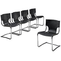 Claudio Bartoli Set of Tubular Dining Chairs