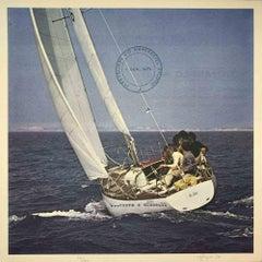 Corre e Vince - Original Offset Print by Claudio Cintoli - 1974