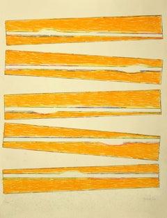 Composition - Original lithograph by Claudio Verna  - 1970