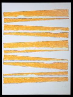 Levels - Original Lithograph by Claudio Verna - 1970 ca.