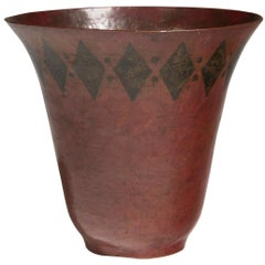 Claudius Linossier, Conical Copperware Vase, circa 1930