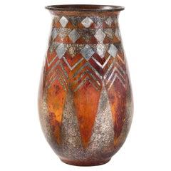 Claudius Linossier Dinanderie Vase