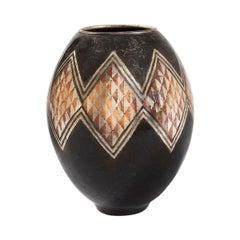Claudius Linossier French Art Deco Dinanderie Vase