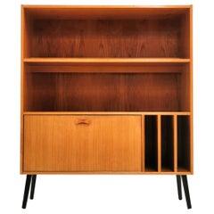 Clausen & Søn Danish Teak Bookcase Cabinet 1970s Midcentury