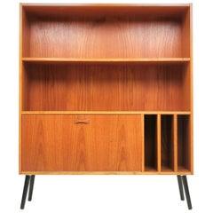 Clausen & Son Danish Teak Bookcase Cabinet Midcentury, 1970s