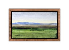 Clay Wagstaff Original Western Landscape Oil Painting On Board Signed Framed Art
