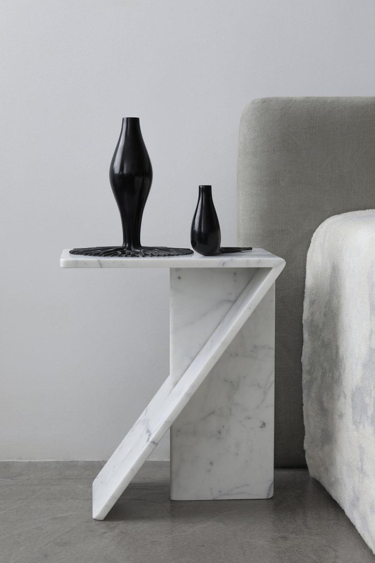 Machine-Made Clé, Side Table in Marble, YMER&MALTA, France For Sale