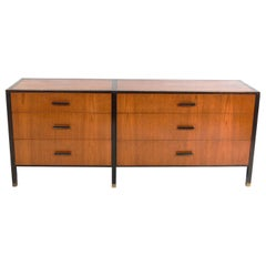 Clean Lined Harvey Probber Chest in Rosewood and Mahogany