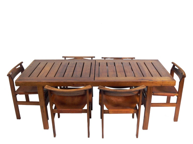 Clean Lined Midcentury Dining Table by John Tabraham For Sale 1
