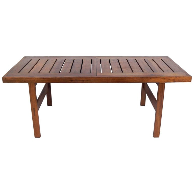 Clean Lined Midcentury Dining Table by John Tabraham For Sale