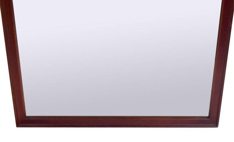 Mid-Century Modern Clean Lined Walnut Mirror by Kipp Stewart for Drexel For Sale