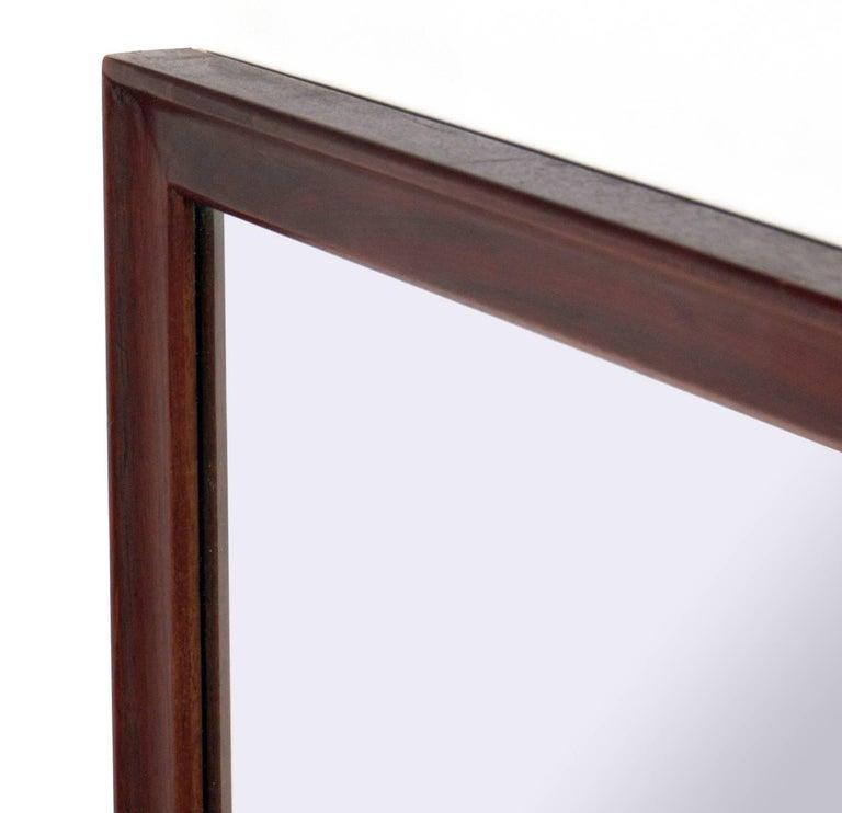 American Clean Lined Walnut Mirror by Kipp Stewart for Drexel For Sale