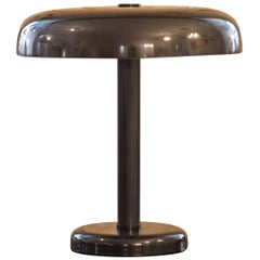 Clear and Modern Art Deco Style Bauhaus Brass Table Lamp, Re-Edition
