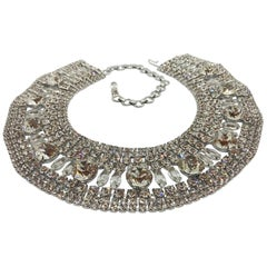 Clear Austrian Crystal Cleopatra Collar Necklace