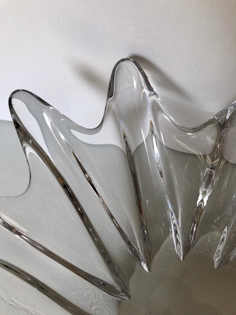 Clear Crystal Sculptural Bowl by Daum For Sale 3