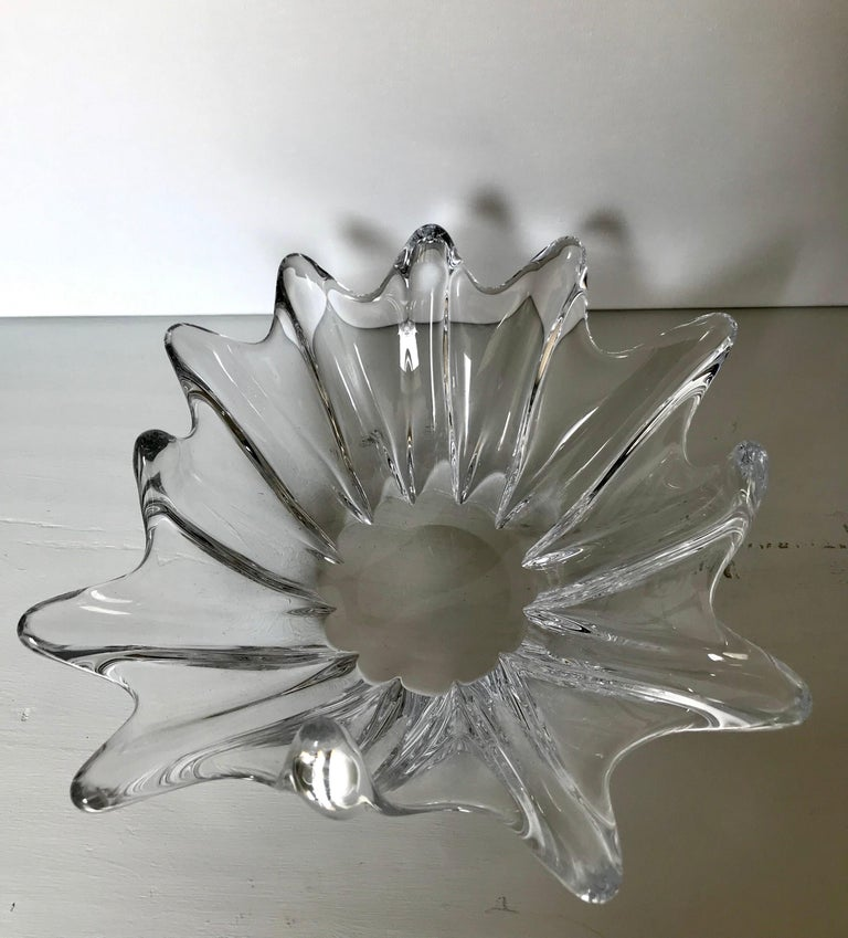 Clear Crystal Sculptural Bowl by Daum For Sale 2