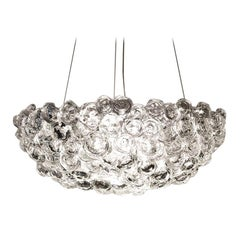 Large Clear Glass Aqualumina Chandelier by Studio Bel Vetro