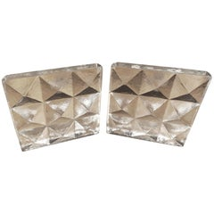 Clear Glass Bookends by Blenko