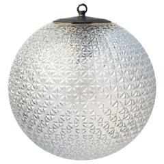 Clear Glass Globe Vintage European Metal Top Pendant Lights