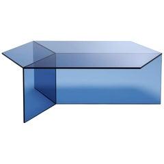 "Clear Glass ""Isom Oblong"" Coffee Table, Sebastian Scherer"