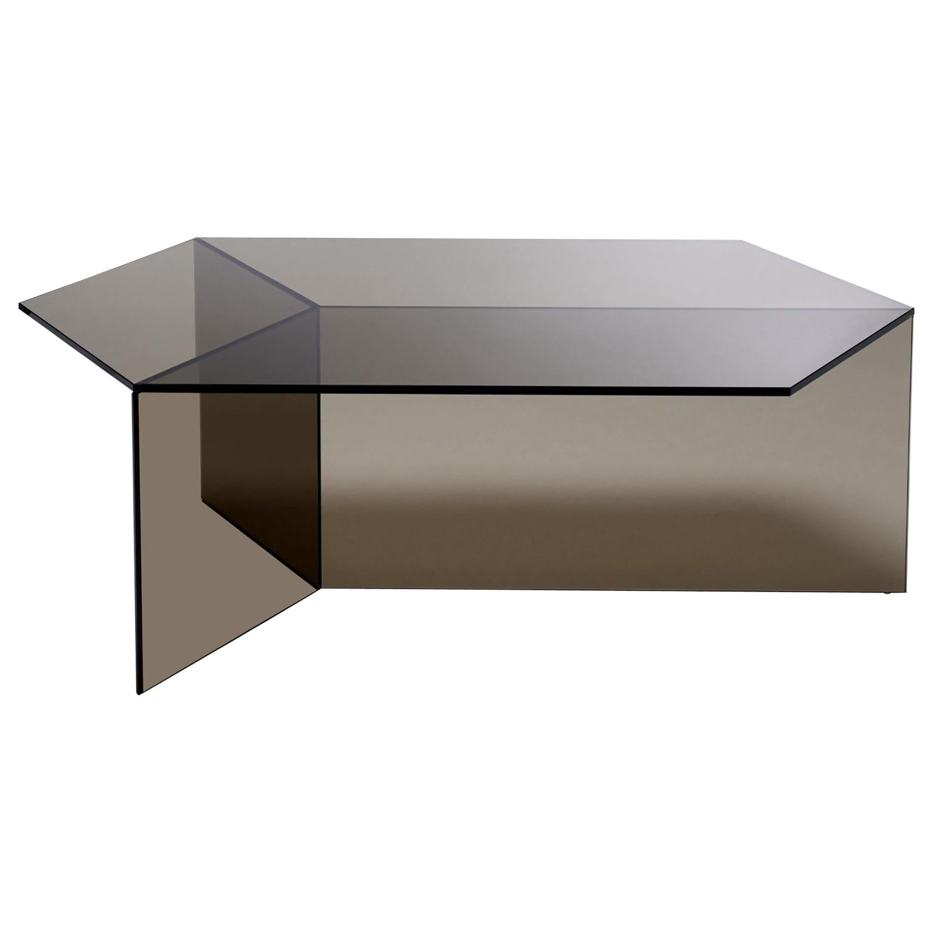"Clear Glass ""Isom Oblong"" Coffee Table, Sebastian Scherer"