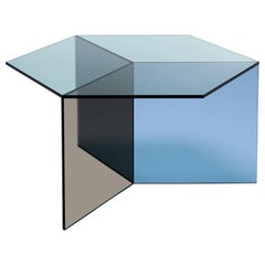 "Clear Glass ""Isom Square"" Coffee Table, Sebastian Scherer"