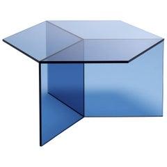 "Clear Glass ""Isom Square"" Coffee Table, Sebastian Scherer"