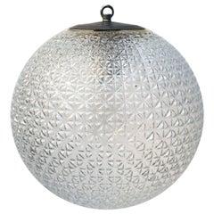 Clear Glass Vintage European Metal Top Pendant Lights (4x)