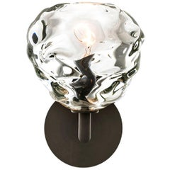 Glass Wall Sconce • Clear Happy Handblown by Siemon & Salazar • Made to Order