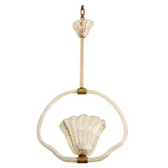 Clear Murano Bubble Glass Hanging Light by Barovier & Toso