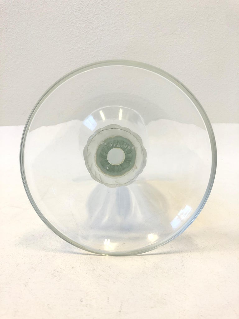 American Clear Murano Glass Candleholder by Karl Springer For Sale