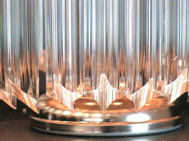 Clear Quadriedri Table Lamp, Venini Style For Sale 3