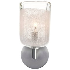 Clear Square Bubble Sconce, Handblown Glass, by Siemon & Salazar