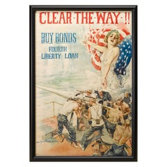 "WWI Patriotic Poster, ""Clear the Way"" by Howard Chandler Christy, 1919"