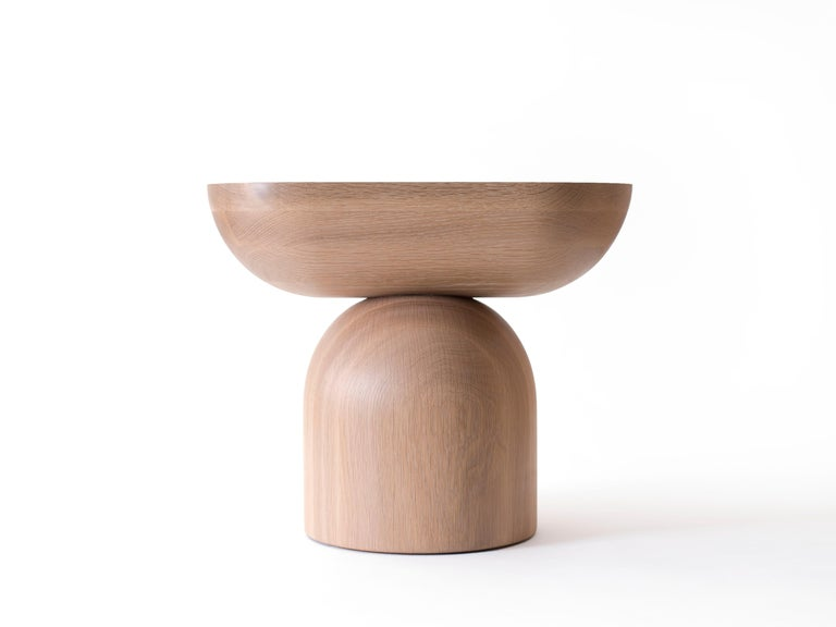 Cleave Side Table, Contemporary Sculptural Solid Wood End Table In New Condition For Sale In Brooklyn, NY