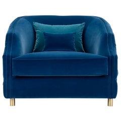 Cleio Large Blue Armchair